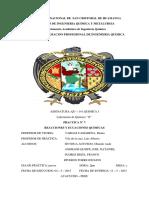 practica de laboratorio n°7   REACCIONES Y ECUACIONES QUIMICAS
