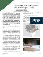 Surface Enhancement of SS 304L via Polyurethane  (PUR) using Airbrush Spray Coating