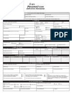 BPI Personal Loan Employee Program Application Form-REVISED