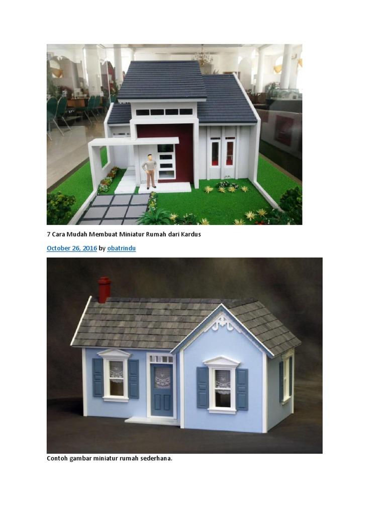 7 Cara Mudah Membuat Miniatur Rumah Dari Kardus