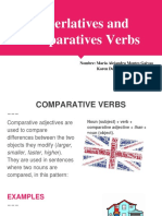 Superlatives and Comparatives Verbs