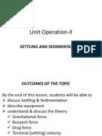 Unit Operation-II (Settling and Sedimentation-1).pdf