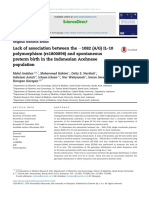 Lack of association between the S1082 (A/G) IL-10 polymorphism (rs1800896) and spontaneous preterm birth in the Indonesian Acehnese population