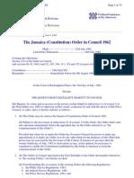 Jamaica Constitution