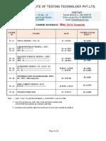 Level II - New Schedule -2019 r 2