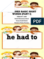 COMBINED BASIC SIGHT WORDS GRADE 4 (Part I).ppsx