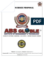 Franchisee Proposal Of ABS Globle