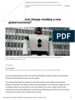 Is Tech Change Creating a New Global Economy World Economic Forum - Session 18