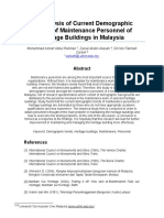 An Analysis of Current Demographic Trends of Maintenance Personnel of a Heritage Buildings in Malaysia