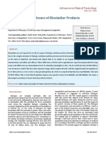 Safety Issues of Biosimilar Products