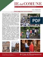 Notizie Dal Comune di Borgomanero del 22 Agosto 2019