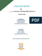ERP SOFTWARE INTERNSHIP REPORT OF UNION GROUP