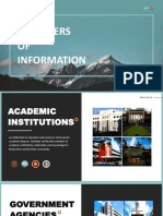 Providers of Information