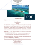 Job Advert - 24th Aug 19 Job Maldives
