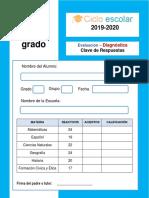 EVALUACIÓN DIAGNÓSTICA 5 GRADO 2019-2020