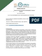 Jornadas Regionales FHYCS UnJu 2019