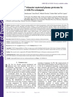 Examination of the 1st Trimester Maternal Plasma Proteome by Seldi in Pregnancies With Pre Eclampsia