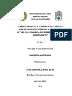 Tesis Evaluación Social y Económica del Crédito a Agricultores de primera Escala