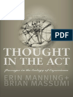Erin Manning Thought in the Act