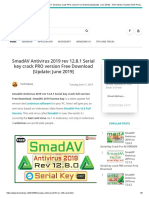 SmadAV Antivirus 2019 rev 12.8.1 Serial key crack PRO version Free Download [Update_ June 2019] - TecH Advise _ Fastest TecH Portal In World. Mobile Tips And Tricks _ Computer Software Serial Key_.pdf
