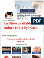 Facilities available at Indore India Eye Care