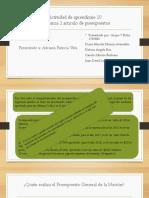 Actividad de Aprendizaje 10 Evidencia 1 Articulo Presupuesto Presentación
