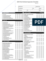 checklist for car