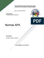Actividades Normas APA
