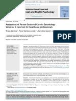 AssessmentofPerson-CenteredCareinGerontologyServices:Anewtoolforhealthcareprofessionals