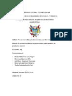 Manual de técnicas analíticas instrumentales sobre análisis de productos Lácteos