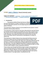 Considerazioni Sui Rapporti Tra Il Diritto Romano e l Diritto Musulmano