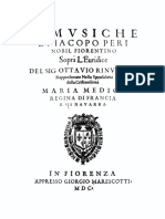 Peri, L'Euridice (1600)