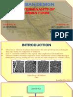 Determinants of Urban Form