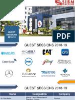 Guest Sessions 2018-19_SIBM Bengaluru