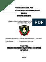 PROCEDIMIENTOS EN CASOS ESPECIALES