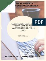 """""""LA EDUCACIÓN VIRTUAL Y SU APORTE EN EL PROCESO FORMATIVO DE  LOS PROFESIONALES DEL SIGLO XXI""""..pdf"""