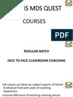 Mds Quest Courses Detail