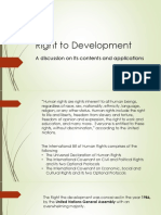 Right to Development (Presentation)