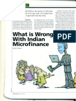 What is Wrong With Indian Micro-Finance