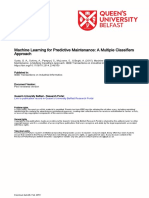 Machine Learning for Predictive Maintenance - A Multiple Classifier Approach