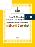 Manual Orientativo - Esquema Alimentar