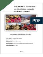 Cambios Socioculturales en El Peru