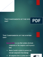 Functions of System Unit