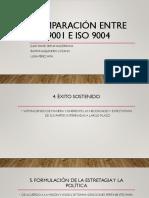 Comparación Entre ISO 9001 e Iso 9004