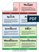 Eightfold Path Folding Reference Card by Alan Peto