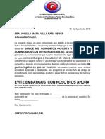 Carta Embargo