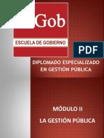 Diplomado Virtual en Gestión Pública- Segundo Módulo