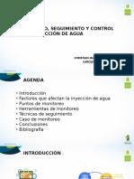 Monitoreo, seguimiento y control de inyección de agua