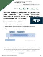 Comparar Datos Entre Columnas Excel – Trucos y Cursos de Excel