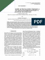 Momentum Transfer at the Boundary Between a Porus Medium and a Homogeneous Fluid